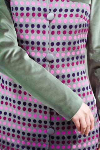 Пальто с бархатным верхом