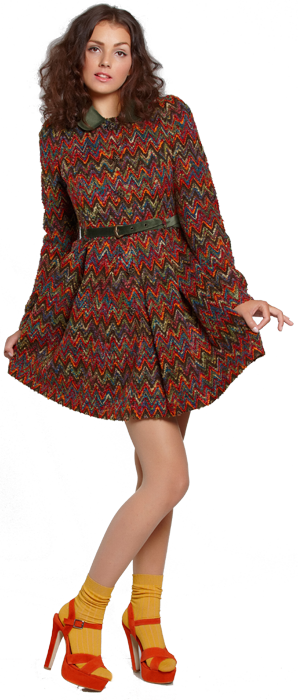 Пальто с пышной юбочкой