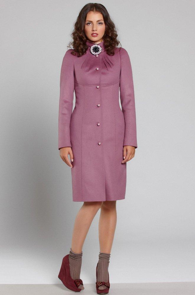 Элегантное пальто приталенного силуэта из мягкой шерсти с кашемиром