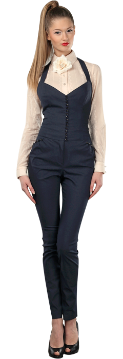 Комбинезон из джинсовой ткани