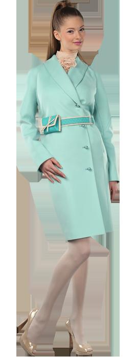 Пальто-кимоно с кожаным поясом