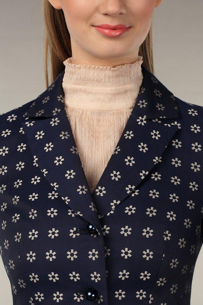 Пальто из жаккарда с цветочным узором