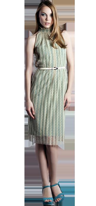 Платье  с американской проймой, кружевное