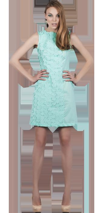 Платье А-силуэт со вставками