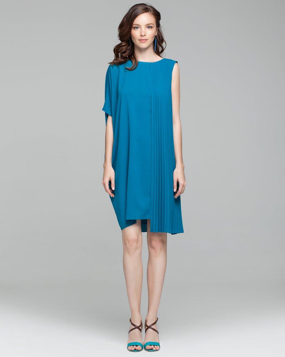 Асимметричное платье с плиссировкой