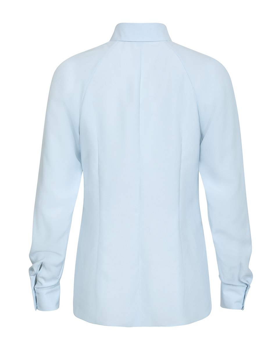 Классическая блуза голубого цвета