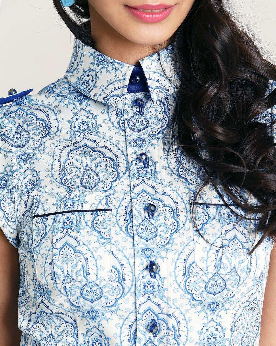 Блуза из хлопка с принтом