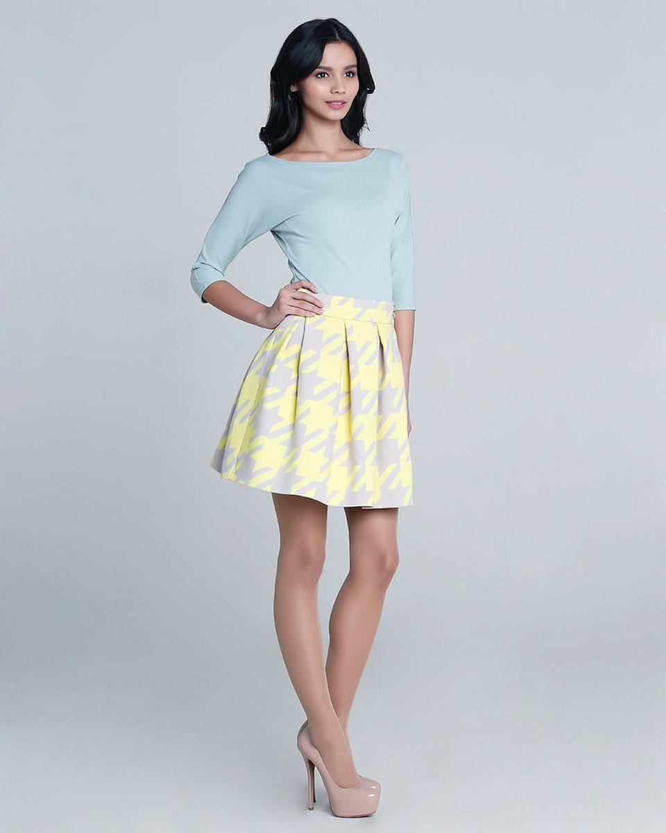 Блуза из трикотажа, голубая