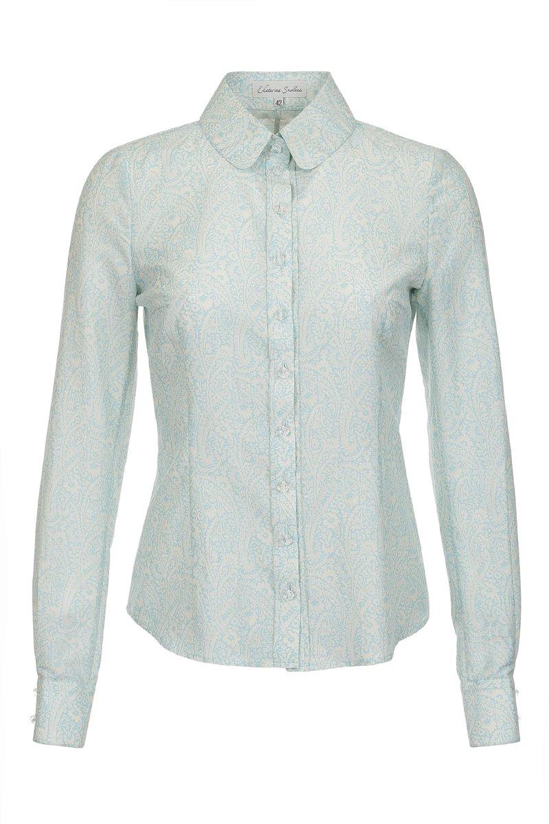 """Блуза классического кроя с узором """"пейсли"""""""