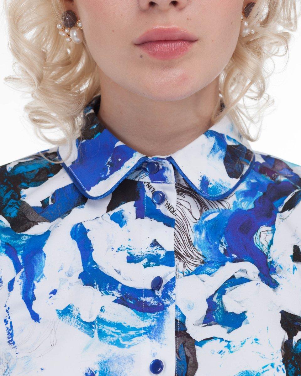 Блуза облегающего силуэта