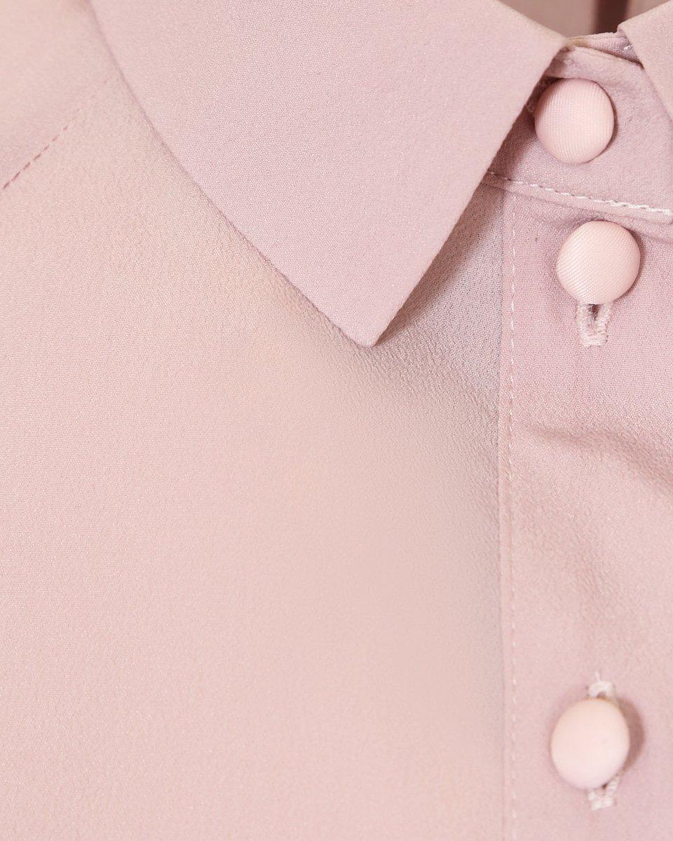Классическая блуза розового цвета