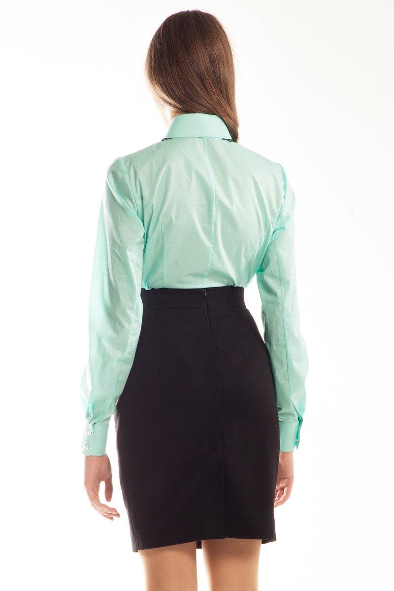 Блуза с длинным рукавом, бирюза