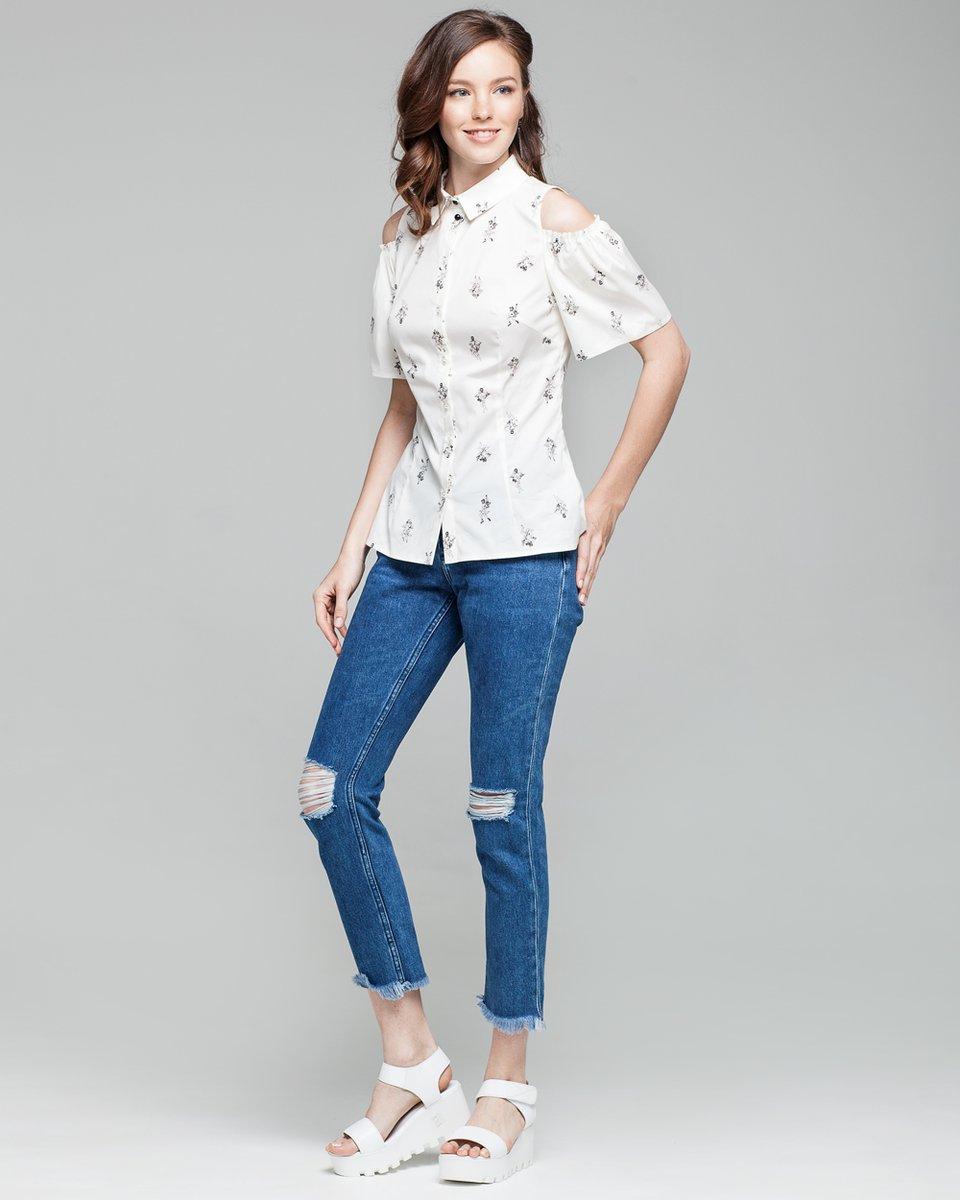 Блуза с открытой линией плеч