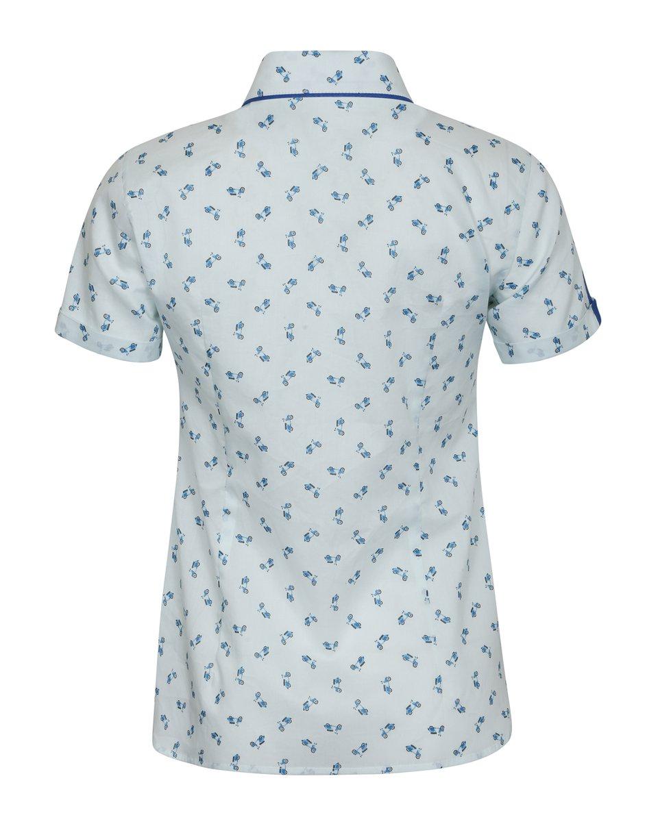 """Блуза с принтом """"синие мопеды"""""""