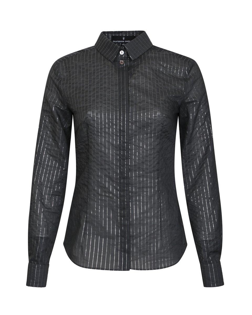 Блуза со сборкой и пышным рукавом