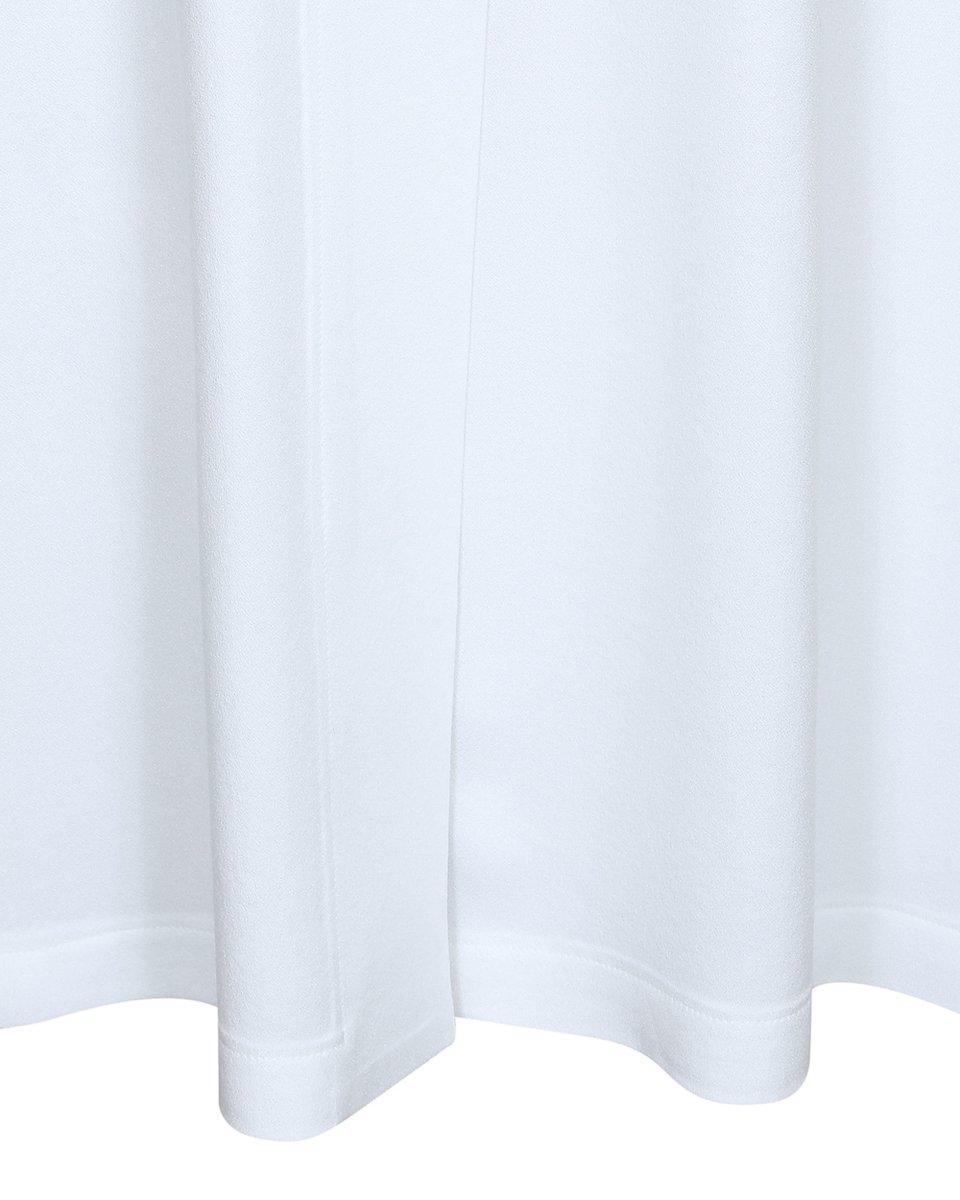 Блуза со шлейфом белого цвета