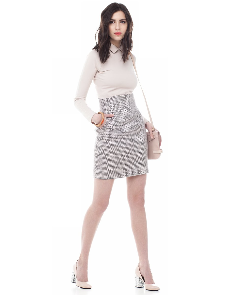 Блуза трикотажная с рукавом-реглан, бежевая