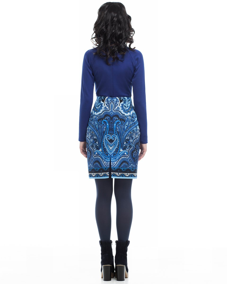 Блуза трикотажная с рукавом-реглан, синяя
