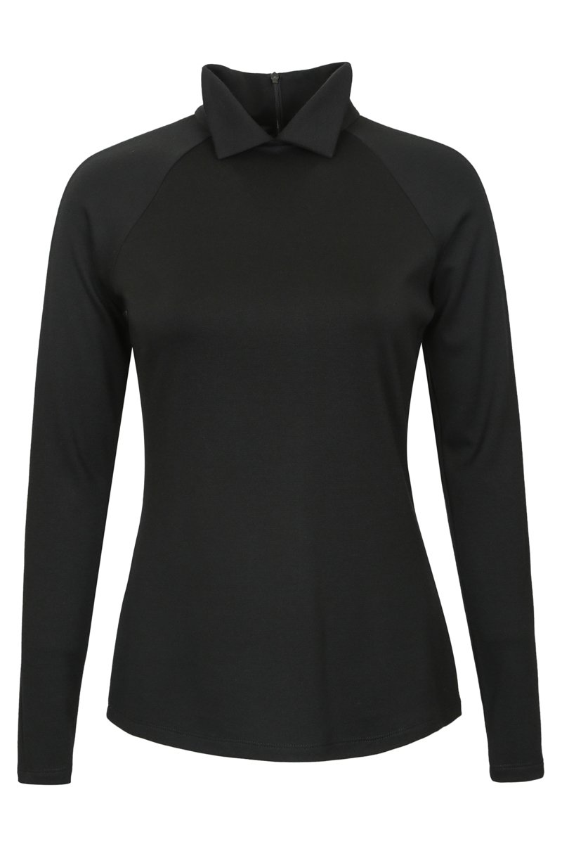 Блуза трикотажная с рукавом-реглан черного цвета