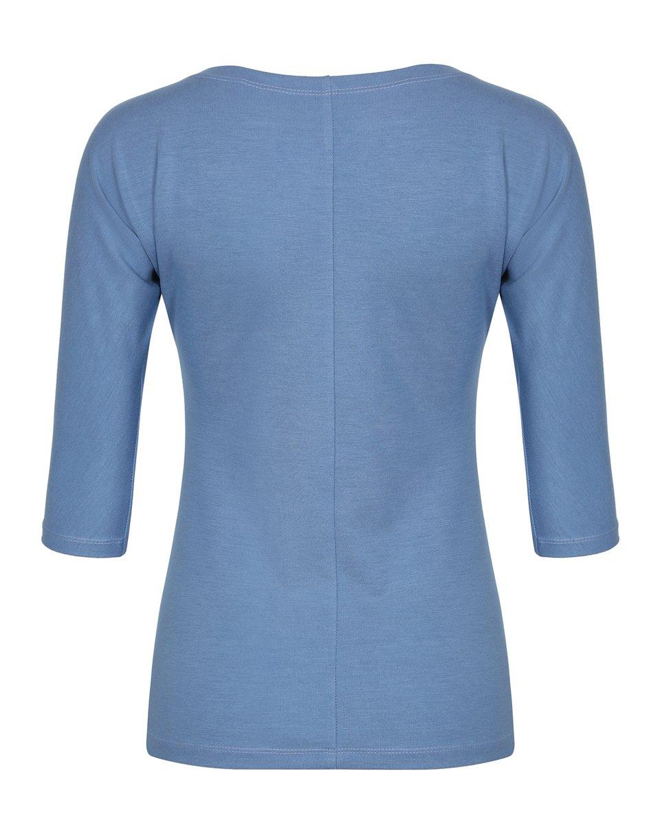 Блуза трикотажная небесно-голубого цвета