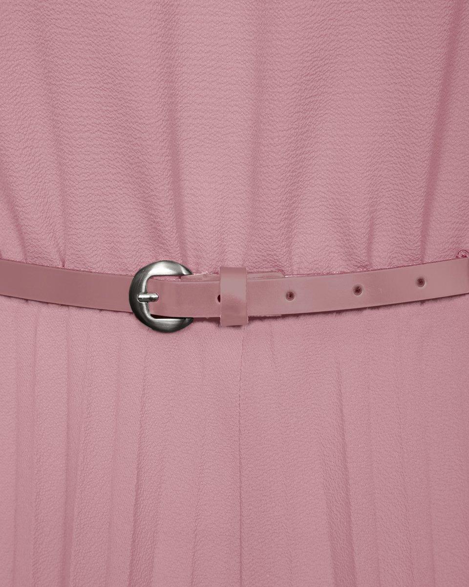 Брючный комбинезон с гофре розового цвета