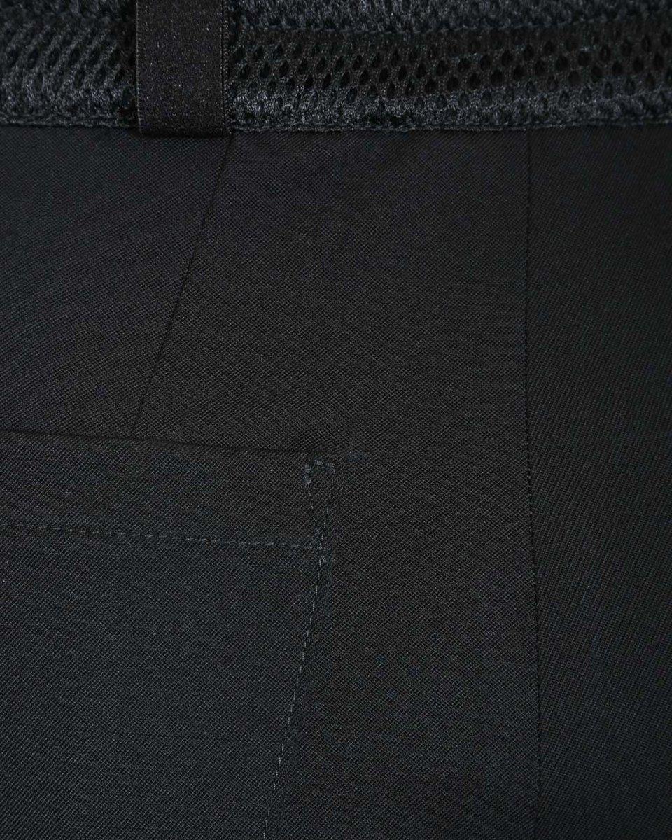 Брюки с накладными карманами из двухслойной сетки