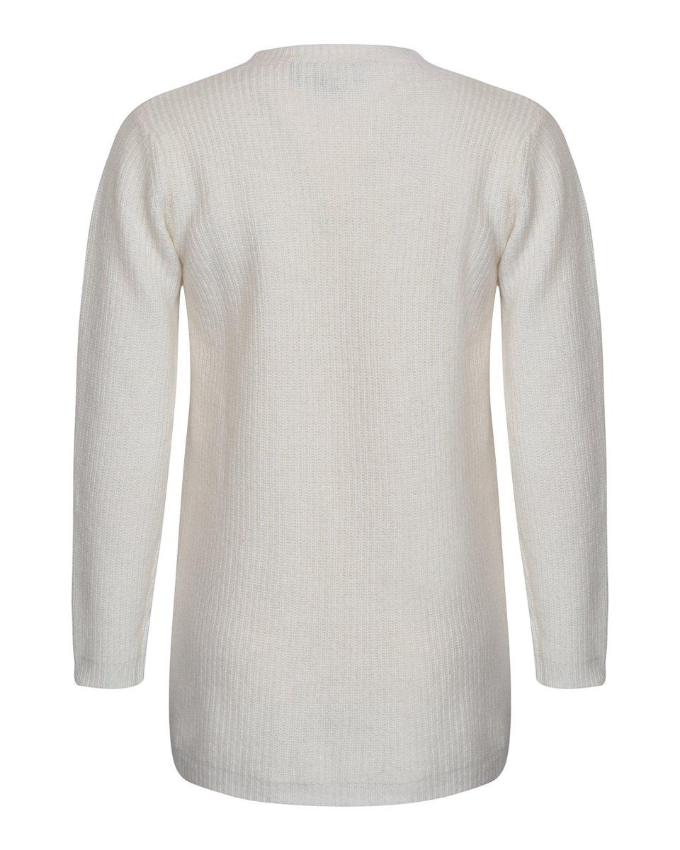 Кардиган белого цвета из высококачественной шерсти