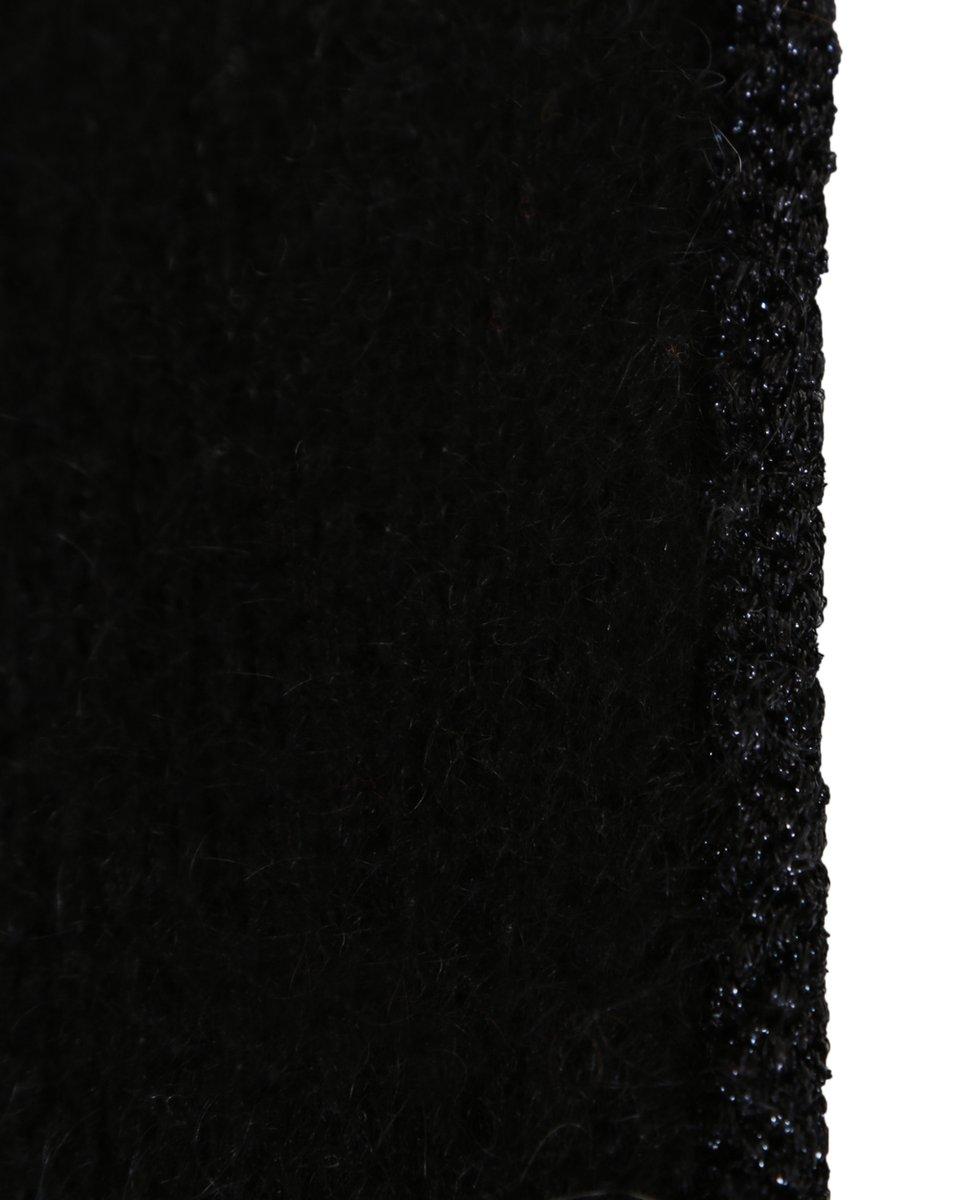Джемпер из мохера с отделкой люрексом, черный