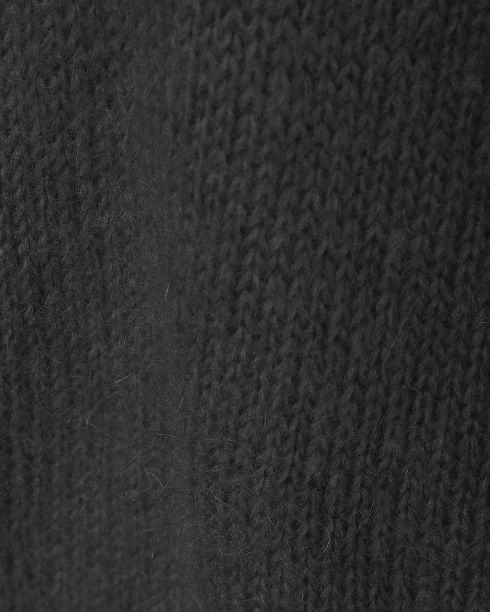 Джемпер из мохера с отделкой люрексом, серый
