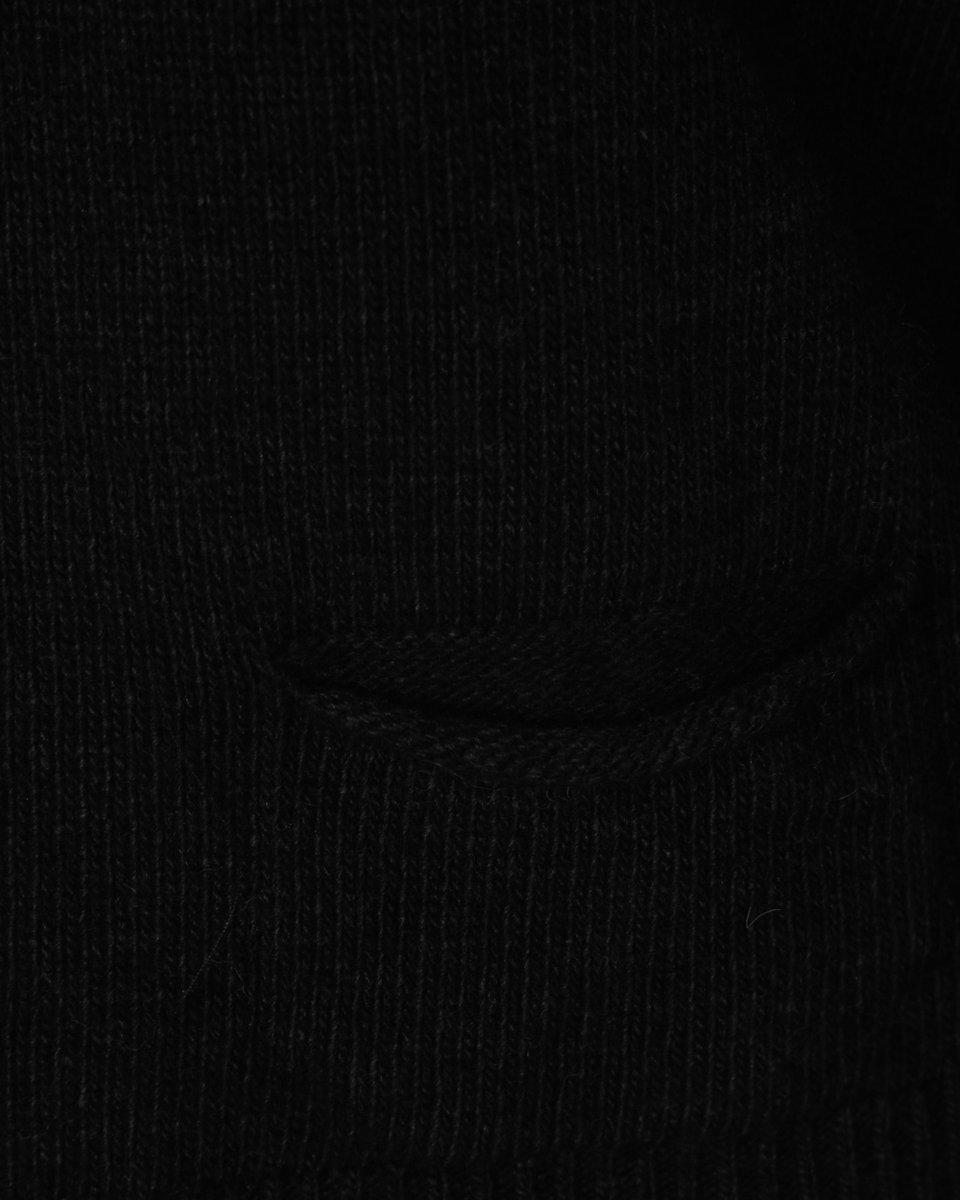 Джемпер укороченный из шерсти и кашемира, черного цвета