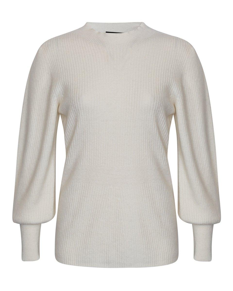 Джемпер белого цвета из премиальной шерсти