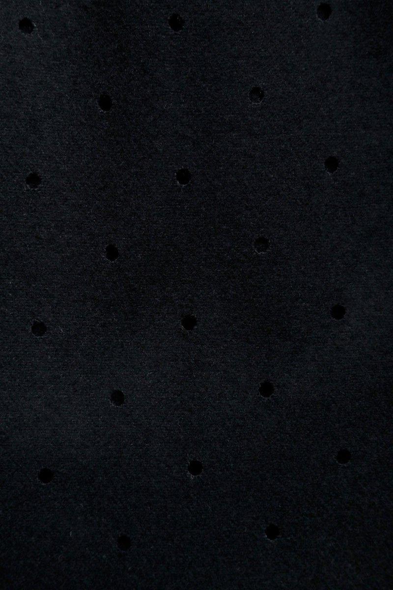 Кардиган из перфорированной шерсти