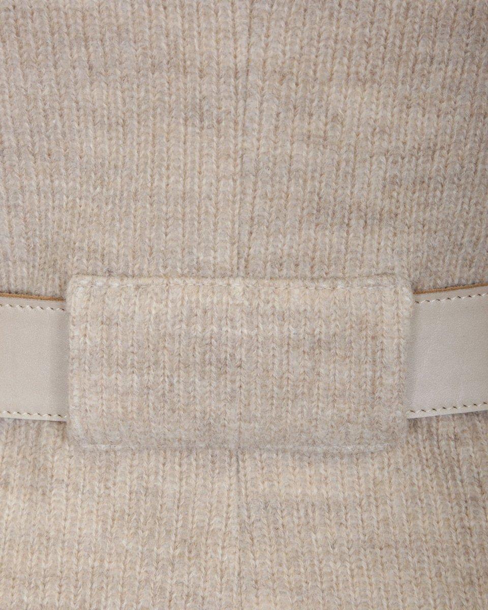Кардиган песочного цвета с боковыми разрезами на молниях