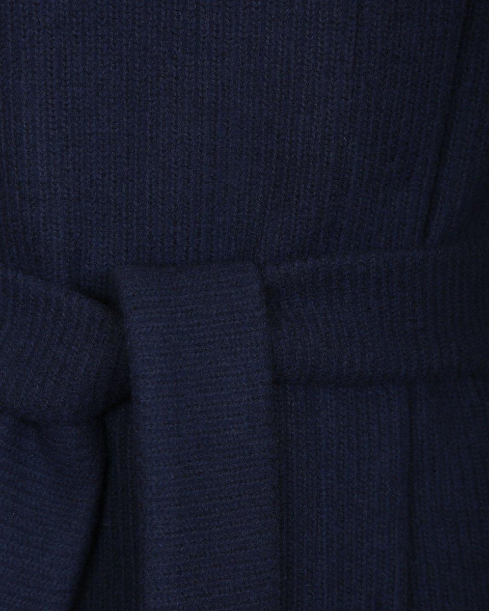 Кардиган из шерстянной ткани с кожаной вставкой на спинке