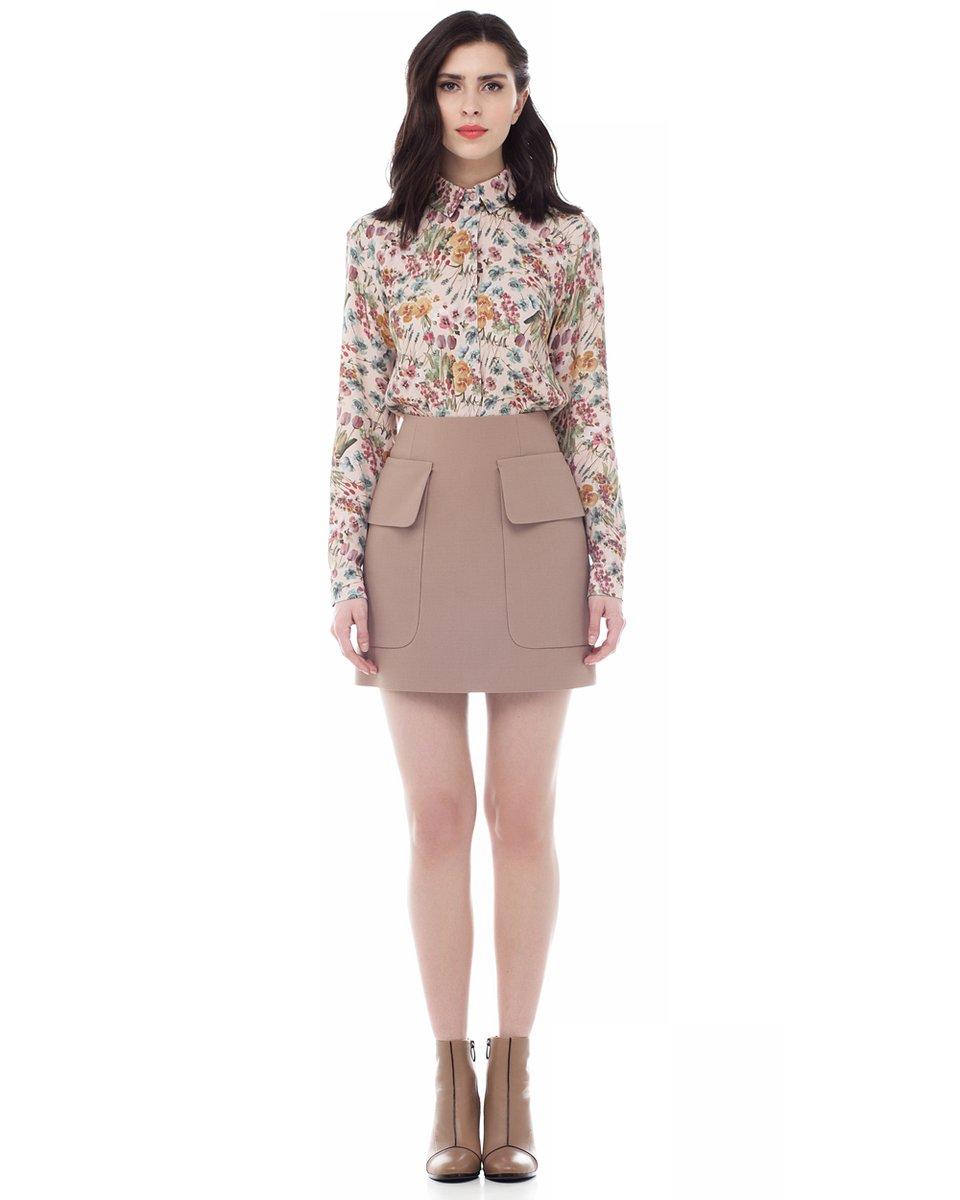 Классическая блуза с цветочным принтом
