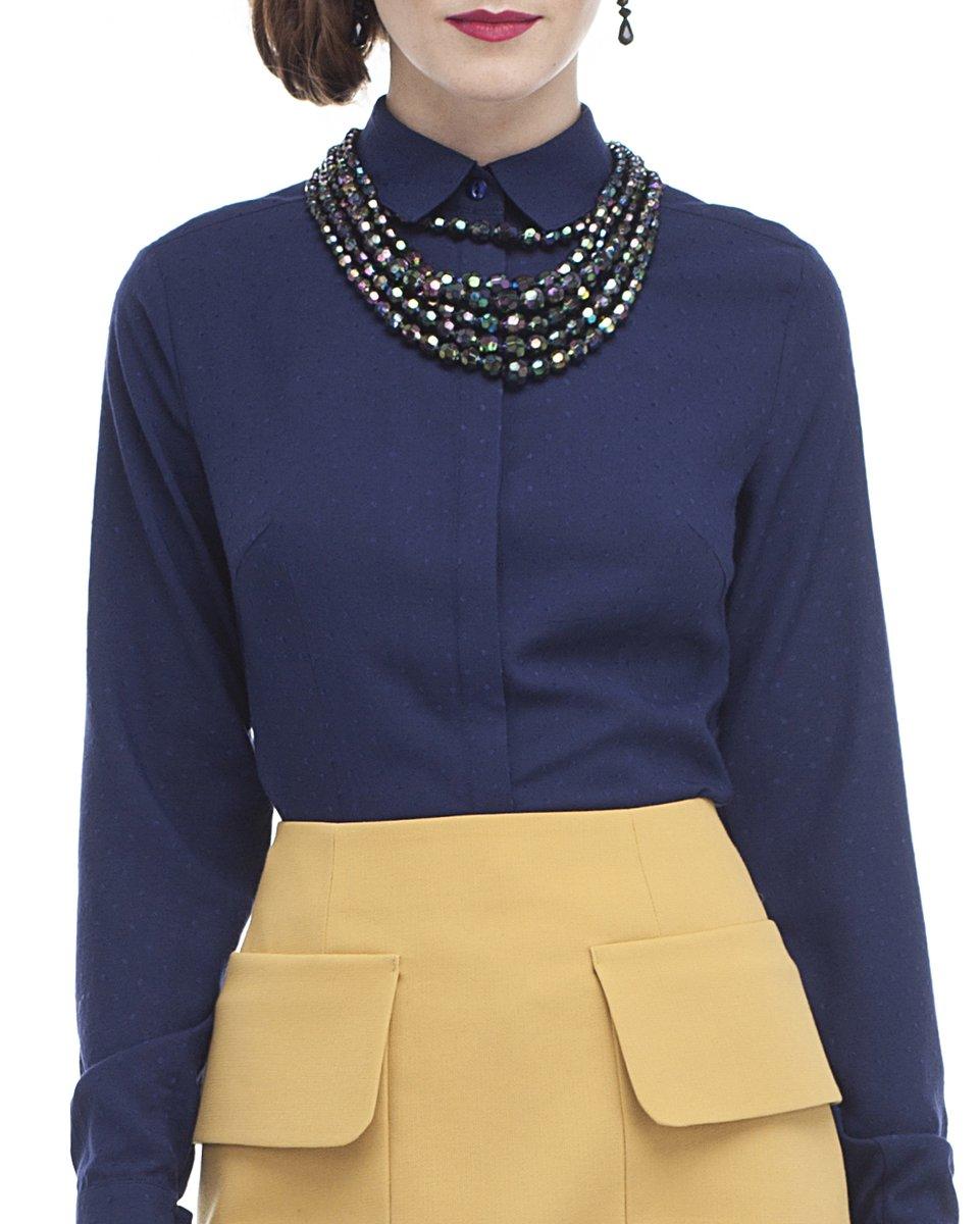 Классическая блуза в горошек