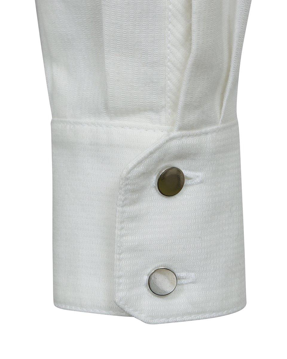 Комбинезон с накладными карманами, белого цвета