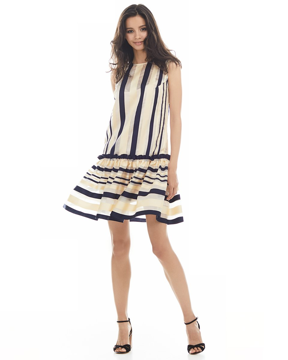 Платье с воланом, из органзы