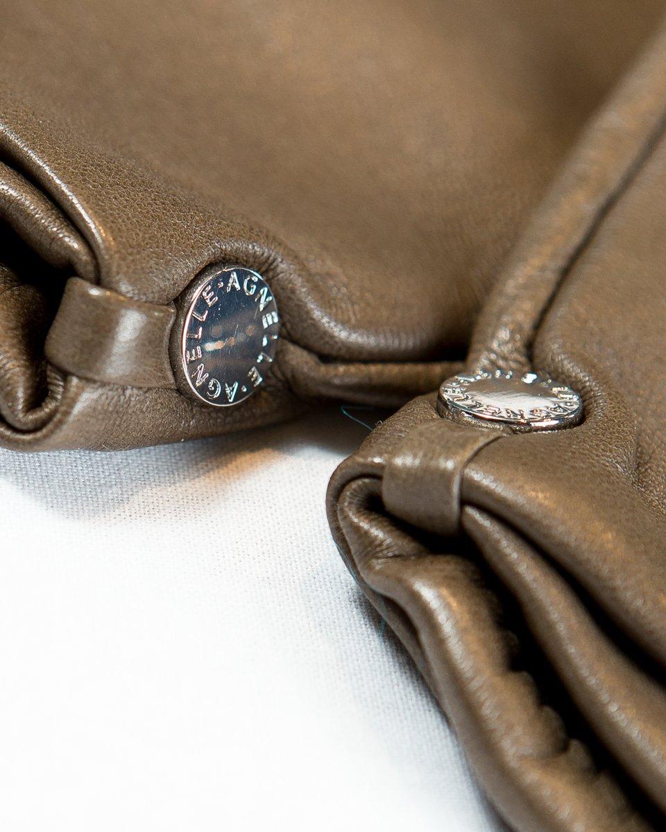 Кожаные перчатки с высоким манжетом
