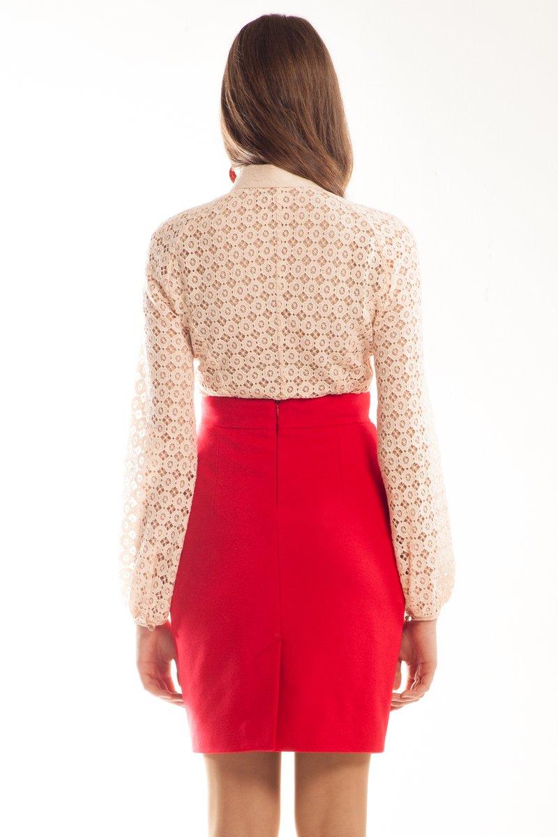 Кружевная блузка, рукав реглан