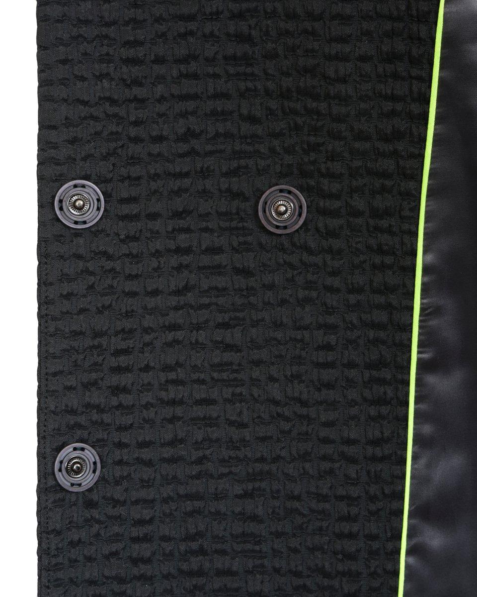 Куртка в спортивном стиле из фактурной ткани графитового цвета