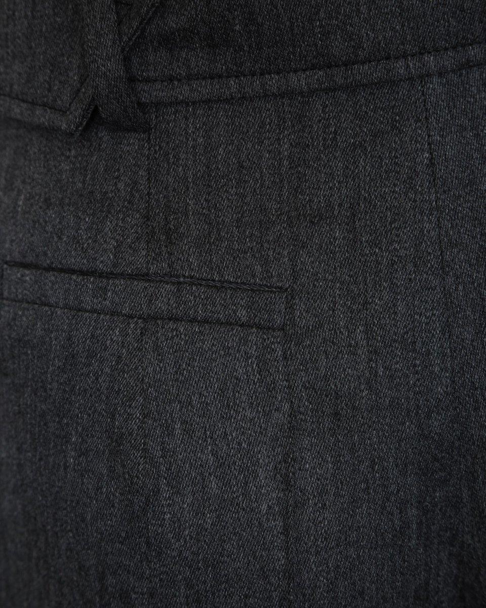 Шерстяные кюлоты серого цвета