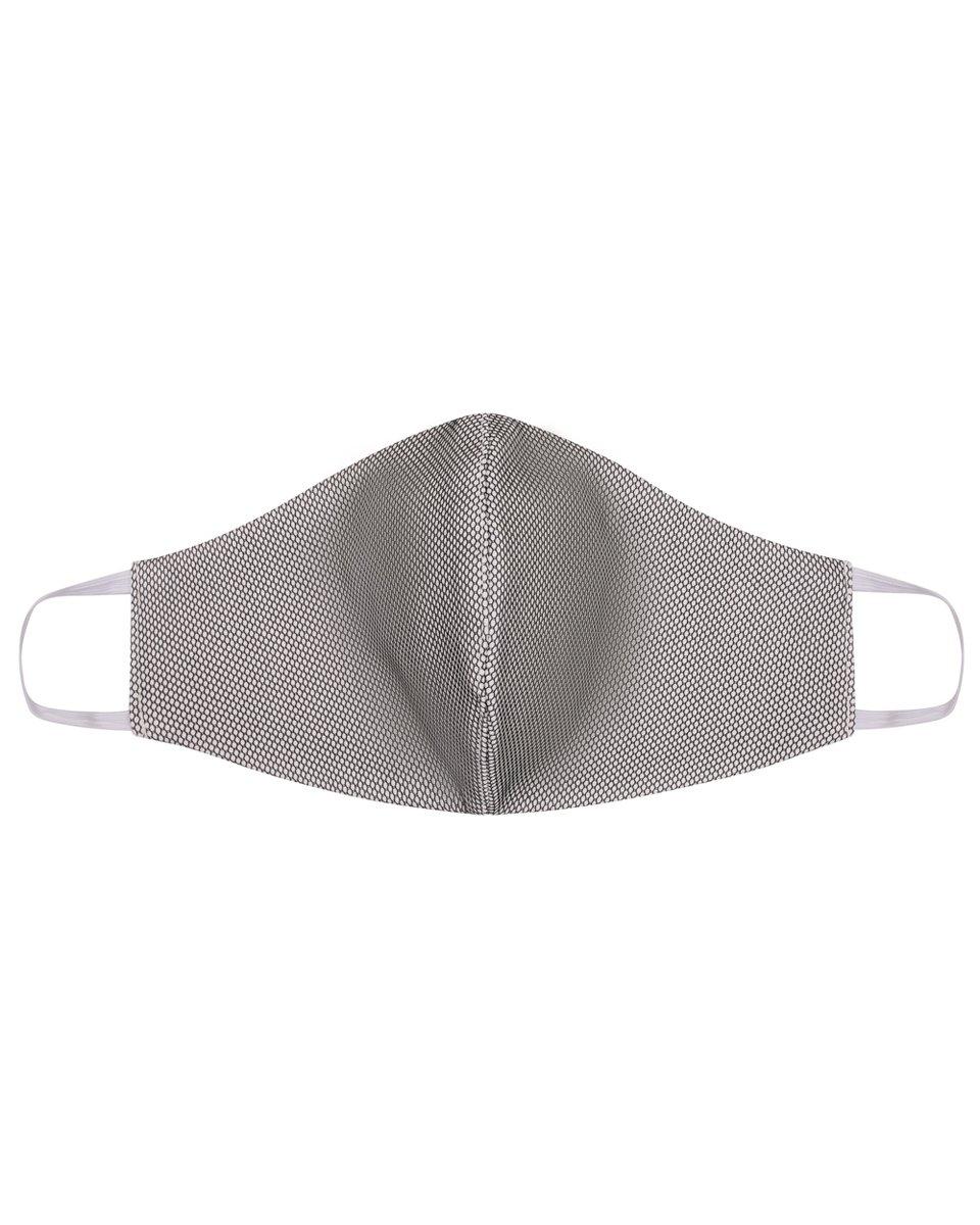 Многоразовая маска белого цвета с черной сеткой