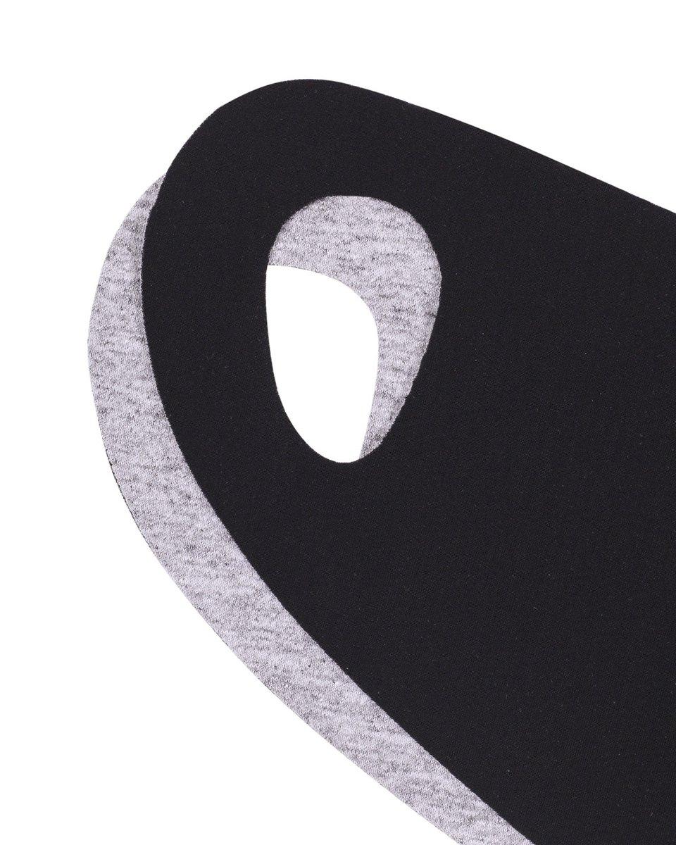 Мужская многоразовая маска черно-серого цвета