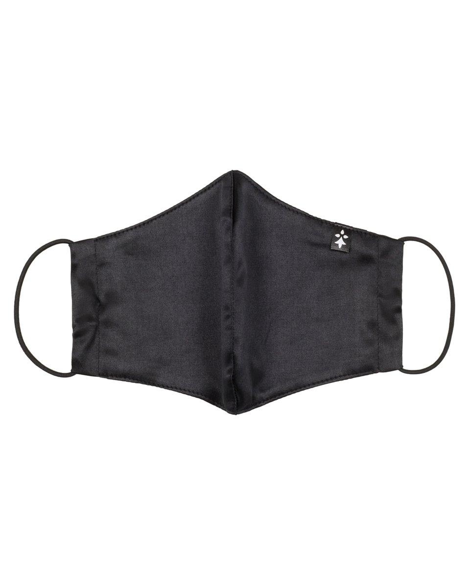 Многоразовая маска атласная, черного цвета