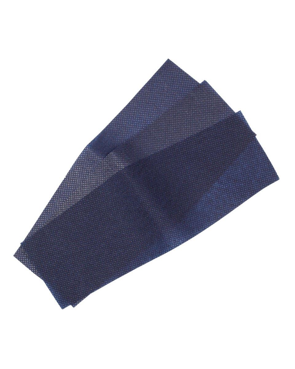 Многоразовая маска атласная, темно-синего цвета