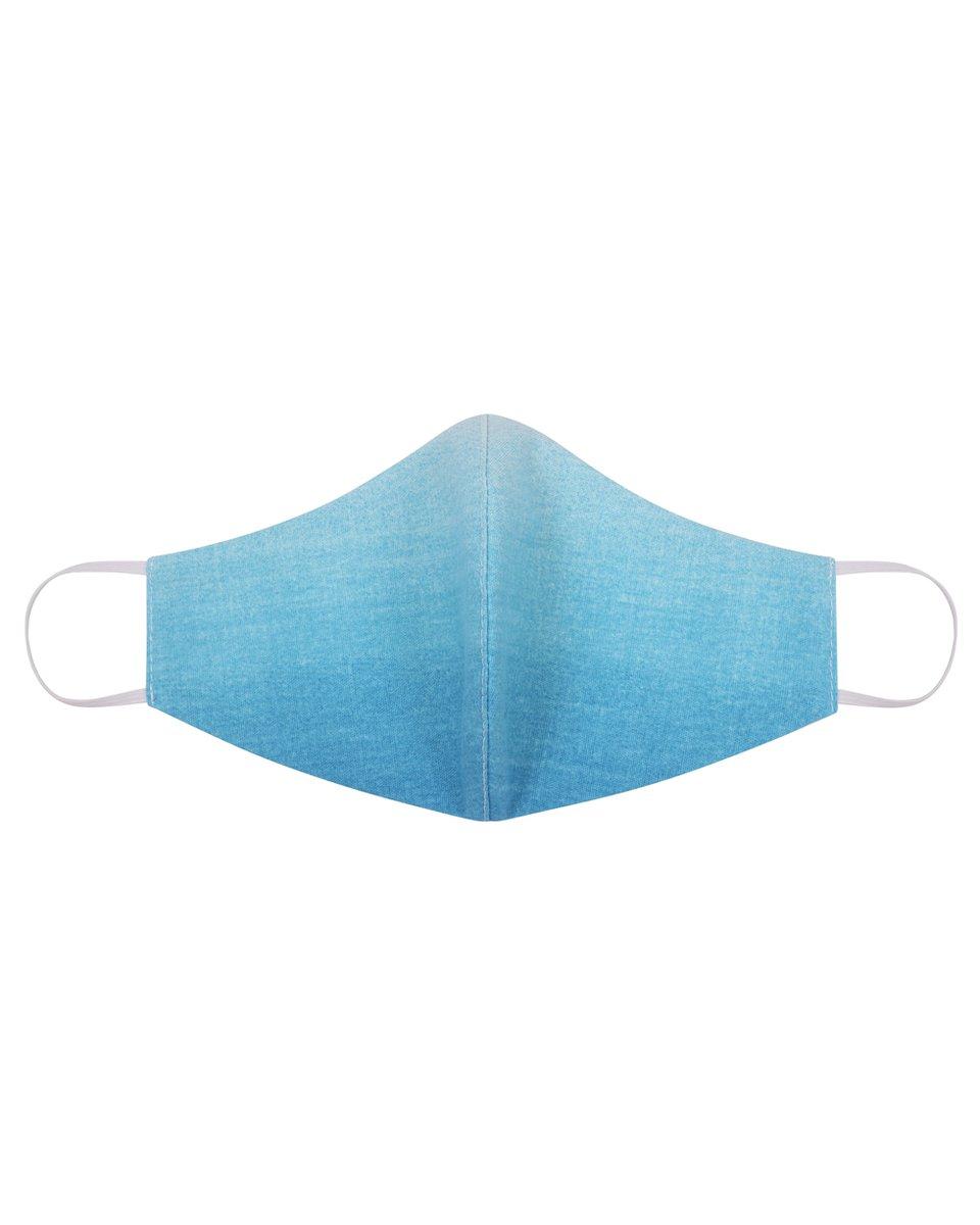 """Многоразовая маска сине-голубого цвета """"градиент"""""""