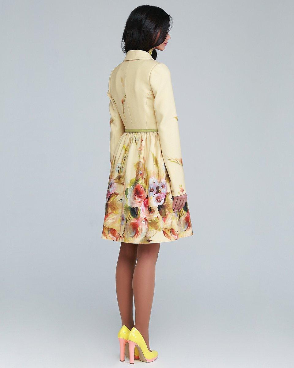 Пальто Акварель, желтое