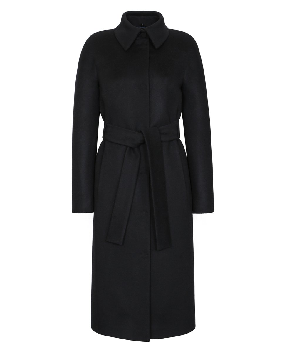 Пальто из премиальной шерсти с мехом