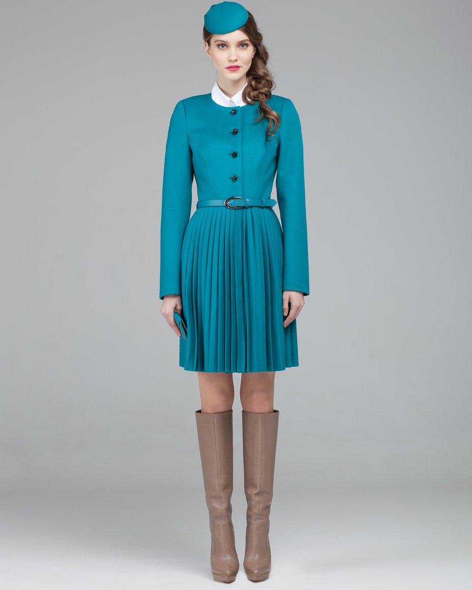 Пальто с юбкой плиссе